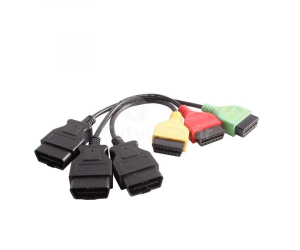 FIAT diagnosztika FiatEcuScan szett interfész + kábel adapterek ABS LÉGZSÁK MOTOR
