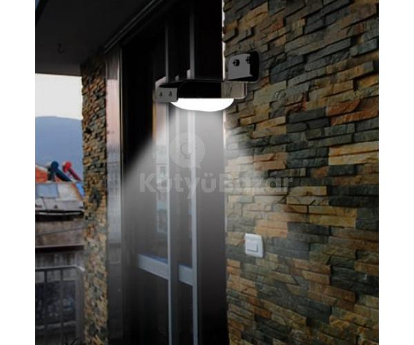 Napelemes fény és mozgás érzékelős kültéri lámpa