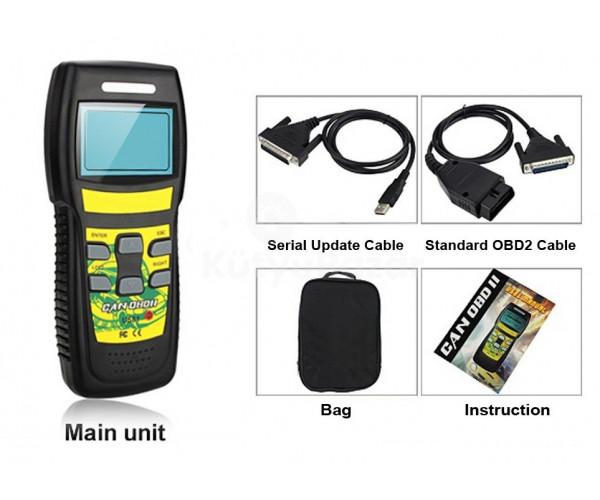 U581 MAGYAR NYELVŰ kézi autódiagnosztikai interfész OBD OBD 2 Multiprotokoll hibakódolvasó
