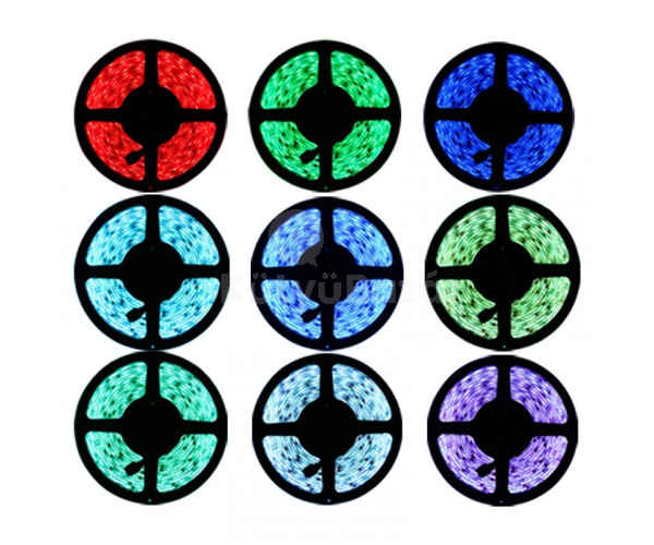 LED szalag, LED RGB szalag, LED csík távirányítóval (5 méter)