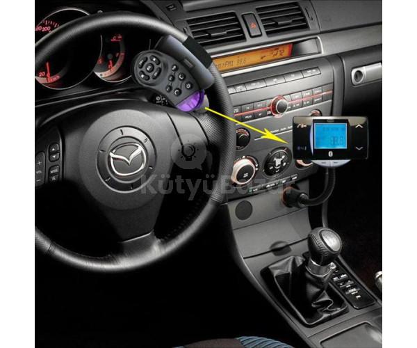 Fm transmitter bluetooth kormányról vezérelhető MP3 USB SD