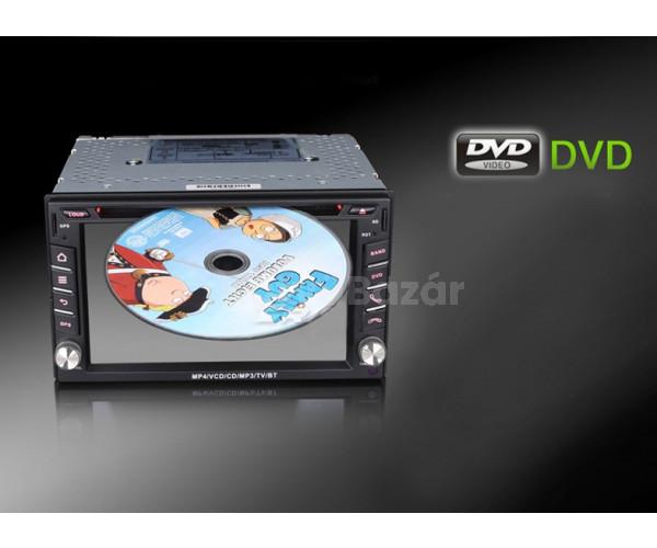 """6.2"""" HD Érintőkijelzős Autós DVD 2 DIN multimédiás fejegység GPS csatlakozás lehetőségével"""