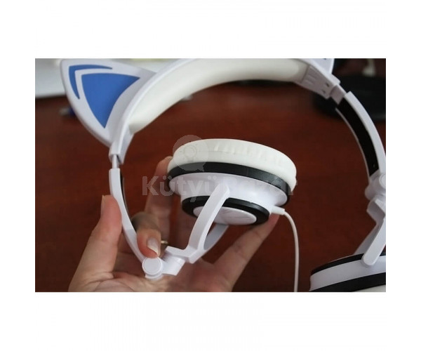 Cicafüles fejhallgató