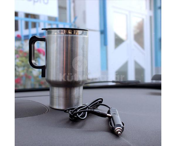 Szivargyújtóról melegíthető pohár– termosz