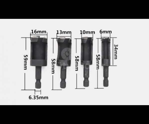 4 db-os speciális dugófúró készlet