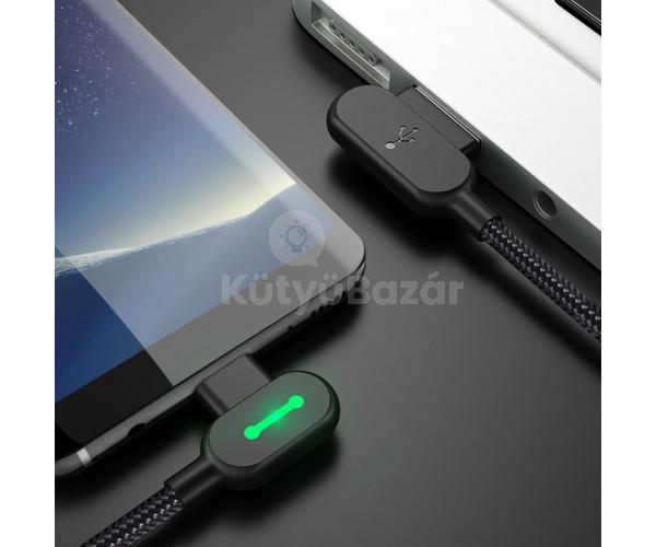Gyorstöltő kábel Android és iPhone készülékekhez