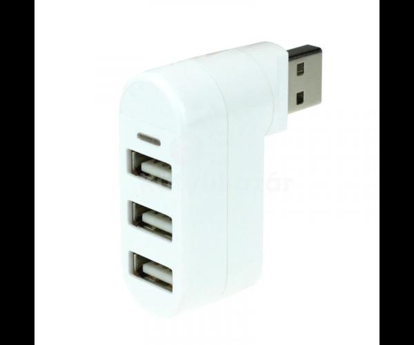 3 Portos USB 2.0 HUB forgatható fejjel