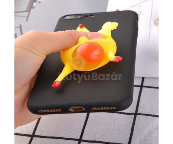 Csirkés szilikon telefon tok iPhone 6-hoz