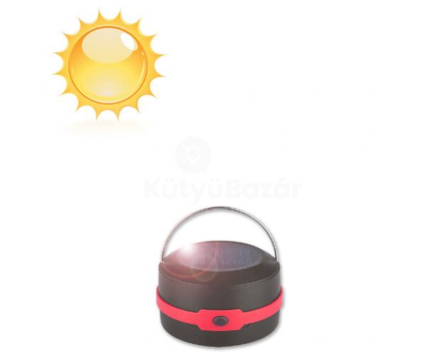 Széthúzható többfunkciós napelemes kemping lámpa, zseblámpa, mini powerbank
