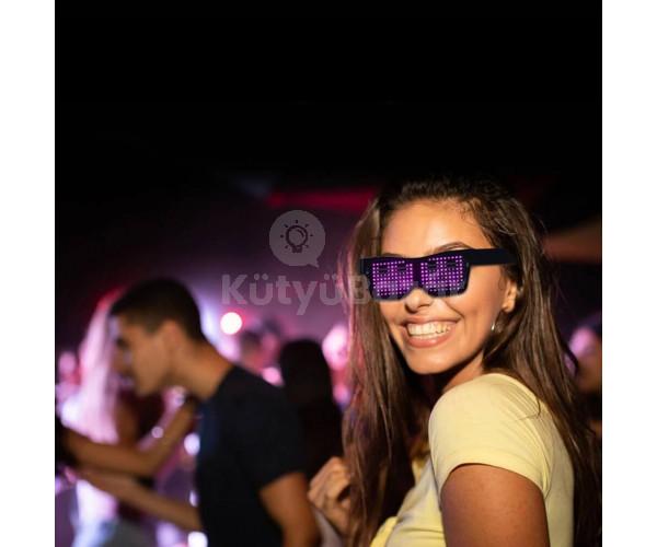 Parti szemüveg, világító szemüveg, LED kijelzős szemüveg
