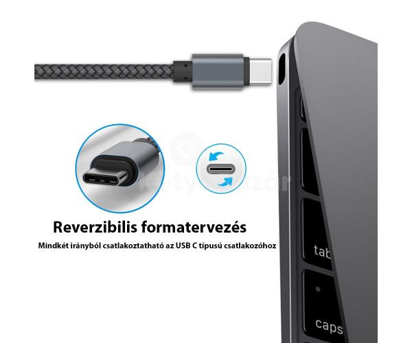 Extra strapabíró 1 méteres USB C gyorstöltő és USB adatkábel