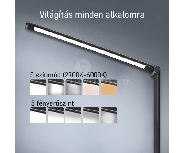 Elegáns minimalista LED lámpa vezeték nélküli töltővel