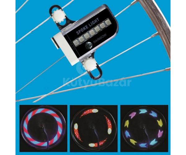 Színes LED lámpa bicikli küllőre
