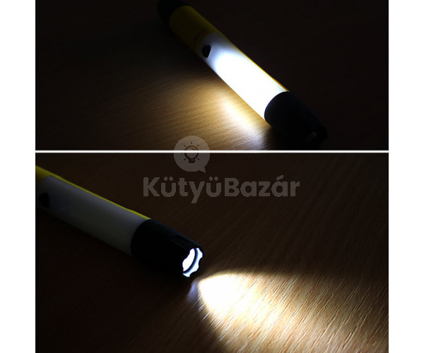 Mágneses talpú zseb-munkalámpa COB LED-del