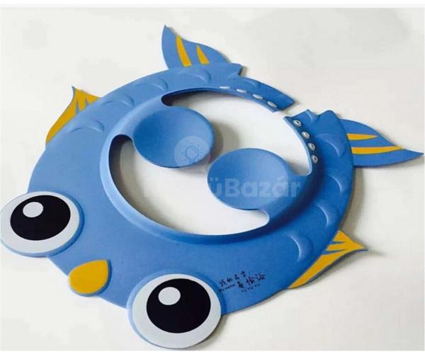 Hajmosó sapka gyerekeknek, Állítható méretű biztonságos fürdőszobai szemvédő sapka