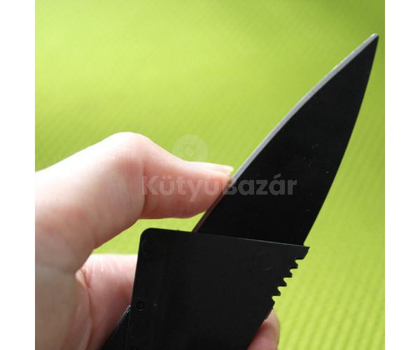 Bankkártya alakú kés egyedi dizájnnal és rozsdamentes acél pengével!