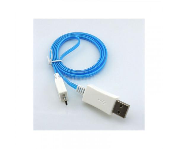 Világítós Micro USB kábel, 5 darab