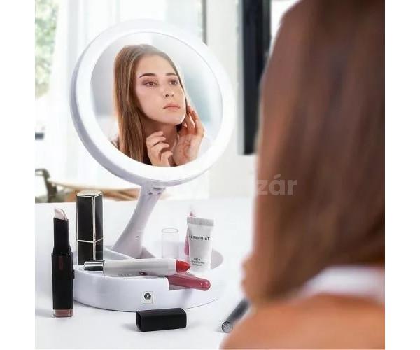 Sminktükör, kozmetikai tükör (nagyítós, ledes, asztali tükör)