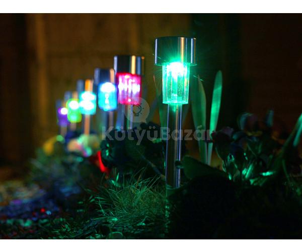 Napelemes színes kerti lámpa