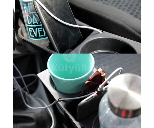 Univerzális autós dupla pohártartó