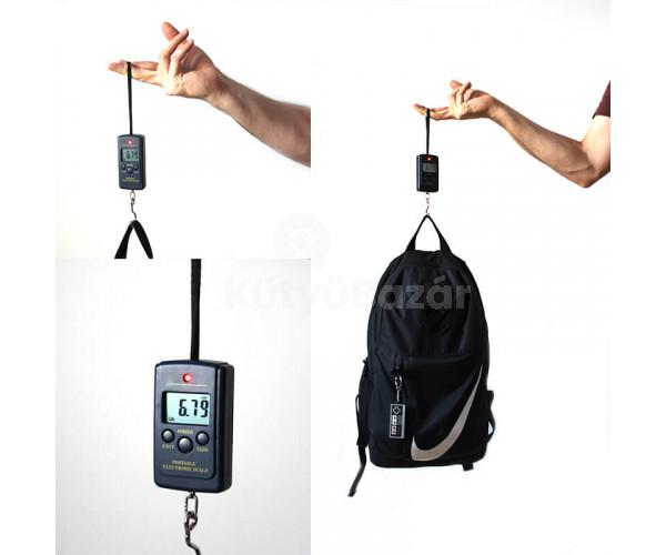 Digitális akasztós zsebmérleg halmérleg piaci mérleg bőröndmérleg 20g-40Kg