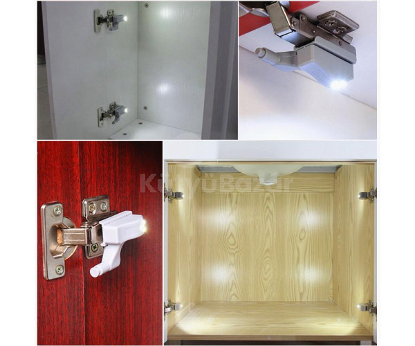 Szekrény világítás, gardrób világítás (mozgásérzékelős) 4 db