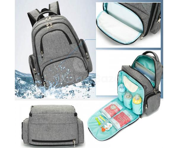 Többrekeszes pelenkázó hátizsák