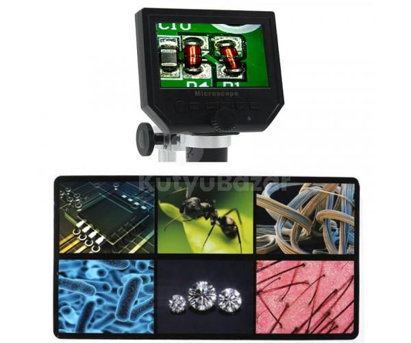 600x-os digitális mikorszkóp LCD kijelzővel