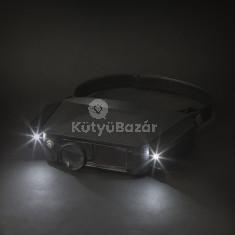 Fejpántos nagyító, LED világítással