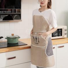 Vízálló konyhai kötény, Tépőzáras és kétoldalú zseb kialakítással