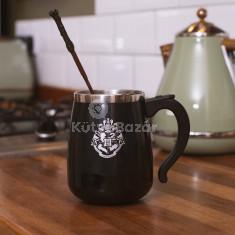 Harry Potter -es önkeverős bögre pálcával -450 ml