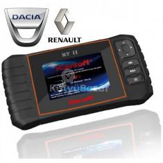 iCarsoft RTII gyári szintű Dacia Renault OBD 1 OBD 2 diagnosztikai + OBD2 műszer szerviz funkciókkal
