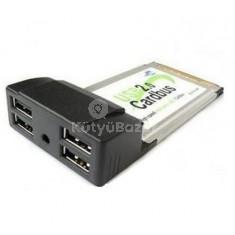 PCMCIA USB 2.0 CARD adapter 4 Port USB HUB laptophoz