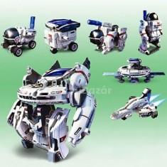 7 az 1-ben napelemes űr robot játék készlet