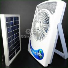 Napelemes ventilátor LED világítással