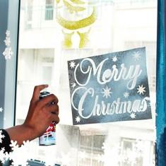 6db Karácsonyi ablak díszítő sablon