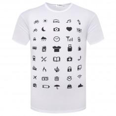 Kommunikációt segítő póló, 40 féle szimbólummal