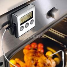Sütőbe helyezhető digitális hőmérő és időzítő