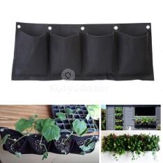 4 zsebes falra akasztható virágtartó