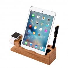 iPad és Apple Watch dokkoló, fa dizájn