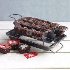 Rácsos brownie sütő tepsi