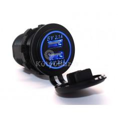 LED-es USB töltő autóba
