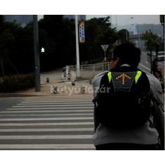 Táskára szerelhető biciklis irányjelző