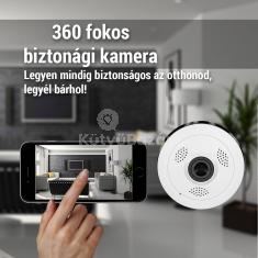 360 fokos látószögű okos kamera