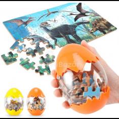 Dinós puzzle tojásban