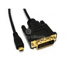microHDMI - DVI adapter, átalakító kábel