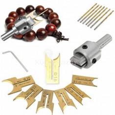 Fa gyöngy készítő készlet (16 részes)