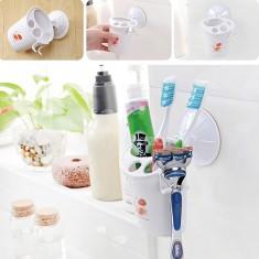 Praktikus fürdőszobai fogkefe és borotva tároló