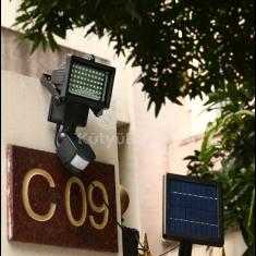60 LED-es mozgásérzékelős, napelemes lámpa