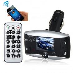 Bluetooth FM transzmitter 1,5' színes LCD kijelzővel